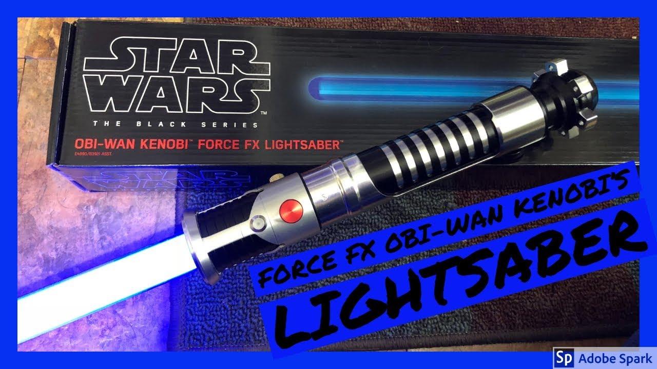 Obi-Wan Kenobi Black Series Force FX Lightsaber Replica Star Wars Episode I