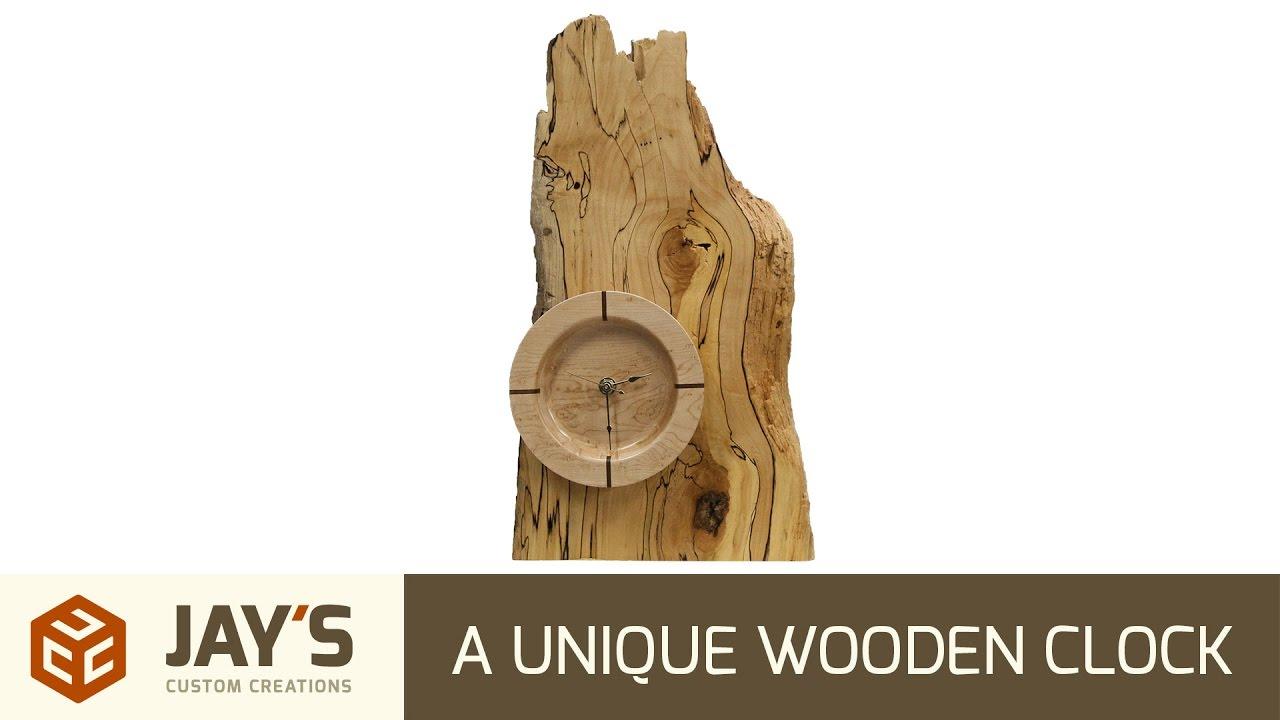 A Unique Wooden Clock | Jays Custom Creations