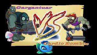 Plants vs Zombies 2 Battlez Electric Blueberry Gargantuar vs Cardio Zombie (PvZ Battlez week 46)