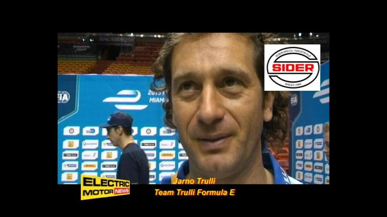 Jarno Trulli Electric Motor News In Miami Youtube