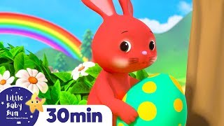 Easter Bunnies Learning Colors - Easter Egg Hunt +More Nursery Rhymes | Learn with Little Baby Bum