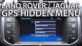 How to enter hidden menu Land Rover, Jaguar (GPS navi service mode Range Rover Evoque)(, 2015-05-09T11:22:54.000Z)