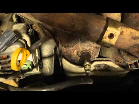 How to reset engine warning light code P1155 and replace the sensor in car