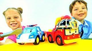 Мультик про машинки: ремонтируем робокаров Поли и Роя