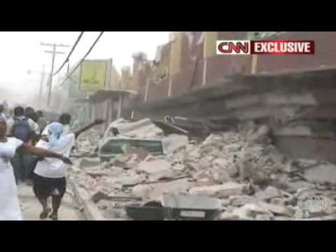 Seconds after a massive 7.0 earthquake in Haiti: Breaking News