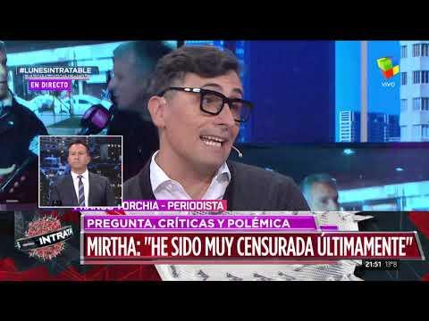 Mario Massaccesi le respondió a Mirtha y la diva pidió disculpas