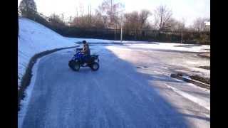quad bike drifting