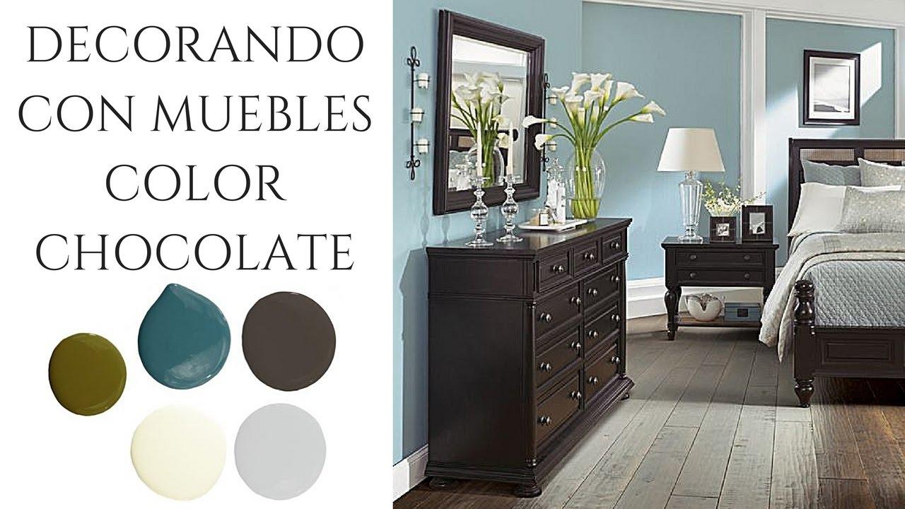 Decoracin con muebles color chocolate  Ideas e