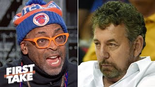 Spike Lee: 'I'm being harassed' by James Dolan, 'I'm done' with the Knicks this season | First Take