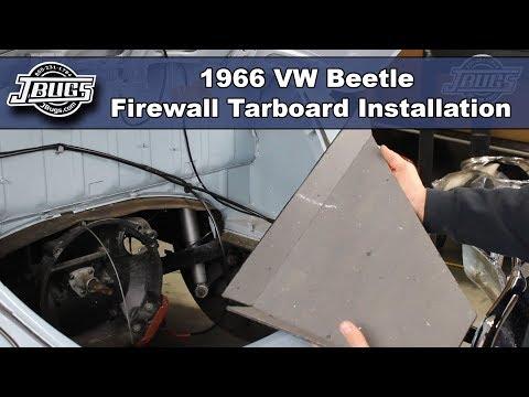 JBugs - 1966 VW Beetle - Firewall Tarboard Installation
