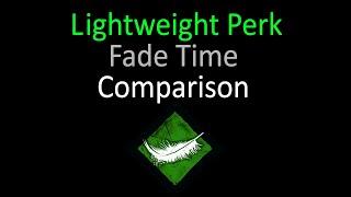 Dead by Daylight - Lightweight Perk Comparison