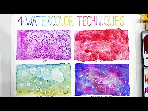 Easy Watercolor Techniques for Beginners | 4+ Best Painting Ideas