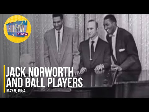 """Jack Norworth and Ball Players """"Take Me Out To The Ball Game"""" on The Ed Sullivan Show"""