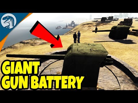 COASTAL GUN DEFENSES, FIRE AT NAVAL FLEET | Men of War: Assault Squad 2 Red Tide Gameplay