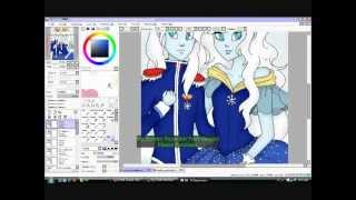 Finn and Fionna as Ice Prince and Ice Princess Speedpaint