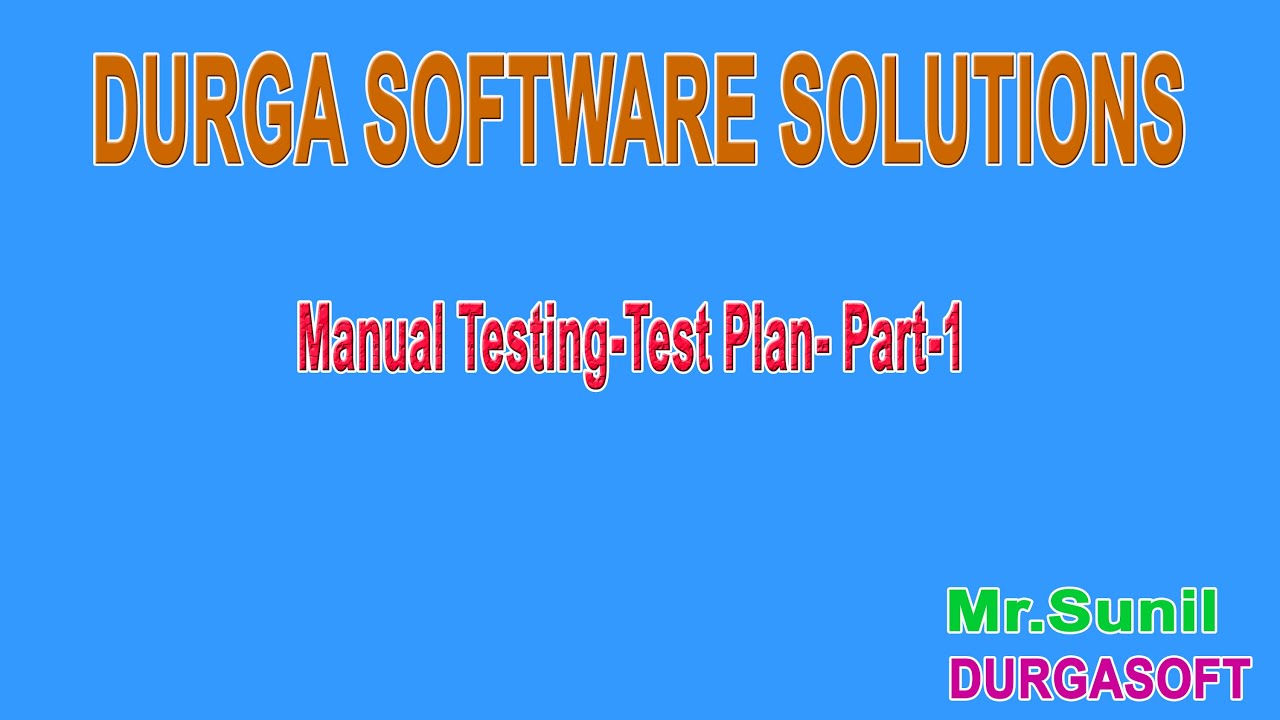 Manual Testing Test Plan Part 1 - YouTube