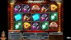 Thief Online Slot Machine Adrenaline Free Spins Bonus - NetEnt Slots