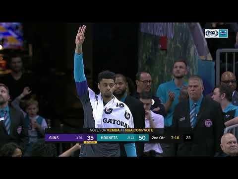 Suns guard Devin Booker falls to Buddy Hield in 3-point contest