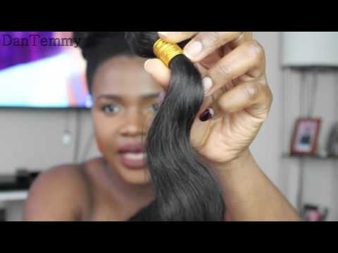 My First Brazilian Hair- Is This Hair The IT or ISHH? (Aliexpress Hair) ||DanTemmy