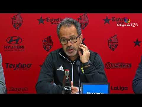 Rueda de prensa de Álvaro Cervera tras el CF Reus vs Cádiz CF (1-0)