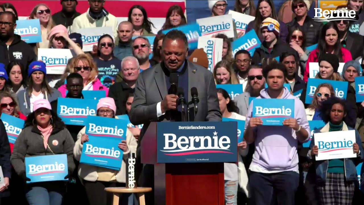 Jesse Jackson Endorses Bernie Sanders