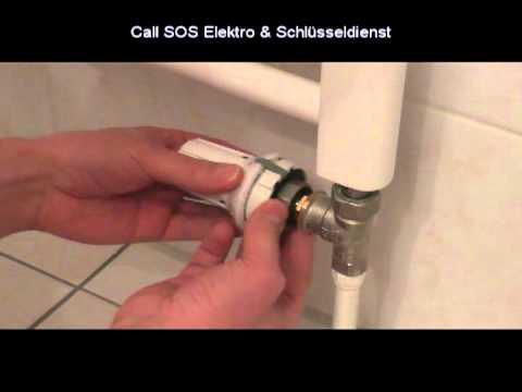 Bevorzugt Heizungstechnik - Heizungsthermostat auswechseln - YouTube CQ12