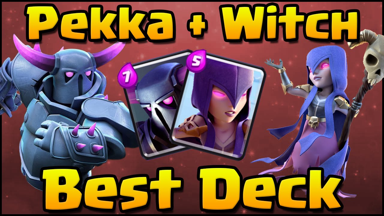 Clash royale crazy pekka witch rage deck and strategy for Deck pekka arene 6