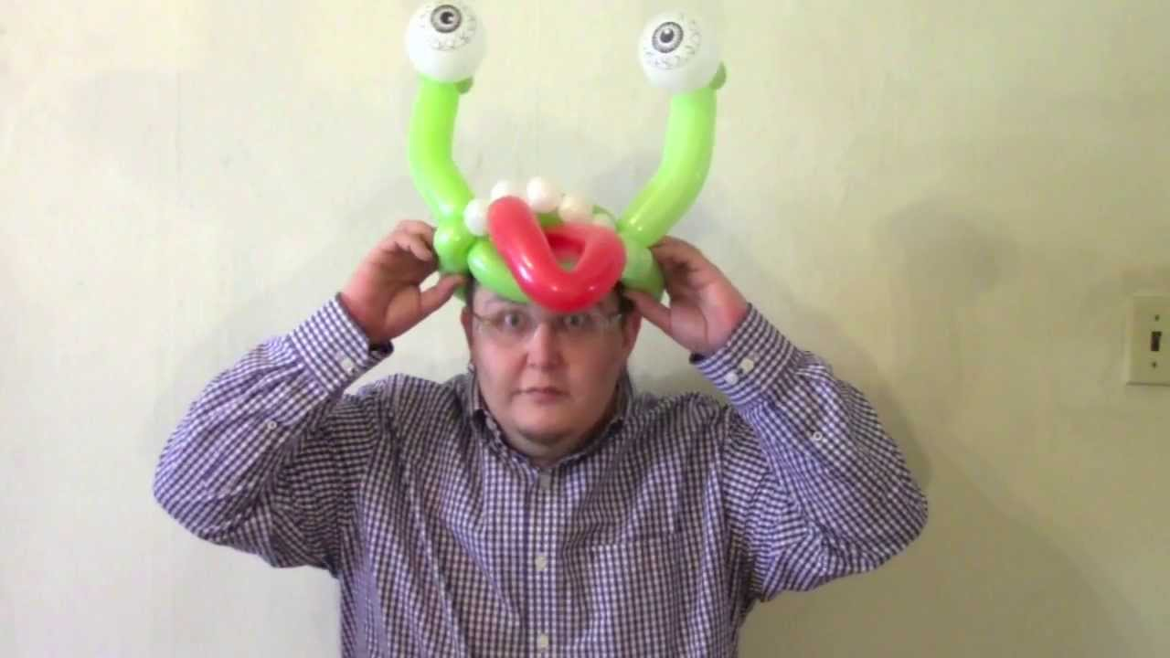 Crazy balloon animals - Silly Monster Hat Balloon Chitwist Chicago Balloon Twisting Youtube