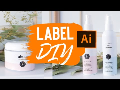 DIY Labels / Product Packaging Tutorial (make MONEY with graphic design, FAST!) $ Illustrator - 2019 thumbnail