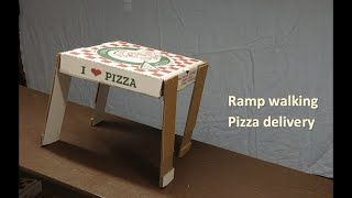 Ramp walker pizza box delivers lunch