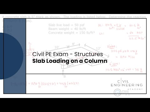 Structures-Slab Loading on a Column - YouTube