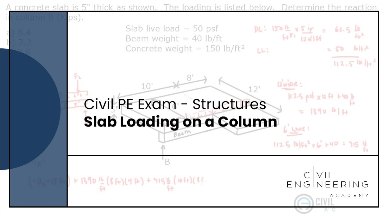 Structures-Slab Loading on a Column