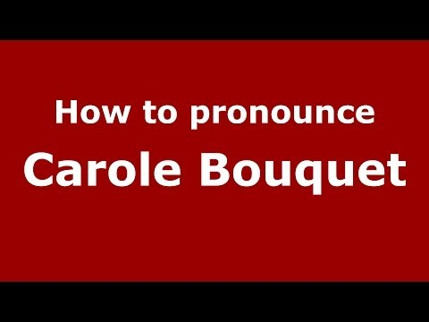Permalink to Bouquet Pronounce French