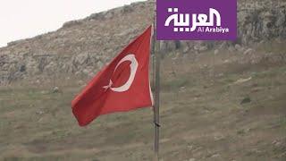 نشرة الرابعة   قتلى وجرحى في غارة استهدفت قافلة عسكرية تركية