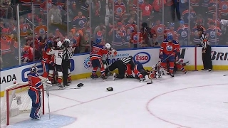 Oilers and Ducks get rough late in the third of Game 6