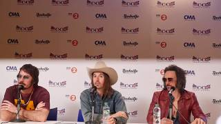 Midland in the Press Room at Country to Country 2018