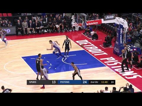 2nd Quarter, One Box Video: Detroit Pistons vs. San Antonio Spurs