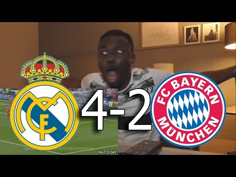 Real madrid vs bayern munich 4-2 - all goals & highlights:barcelona fan live reactions
