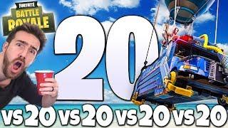 THE NEW FORTNITE 20VS20VS20VS20VS20 MODE IS A PARTY!