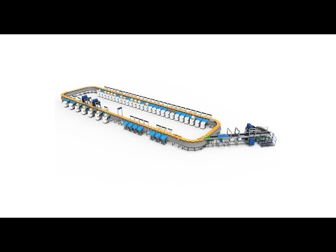 Falcon's High Speed Loop Parcel Sorter for logistics: Tilt Tray Sorter