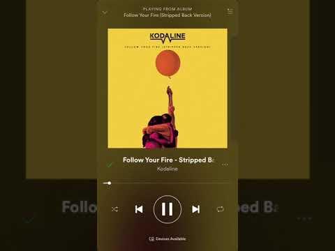 Kodaline - Follow your fire 'Stripped back'