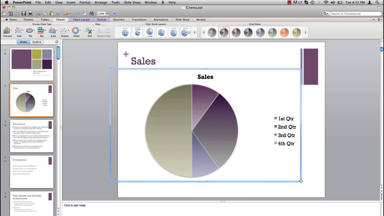 how to create a plot graph in powerpoint