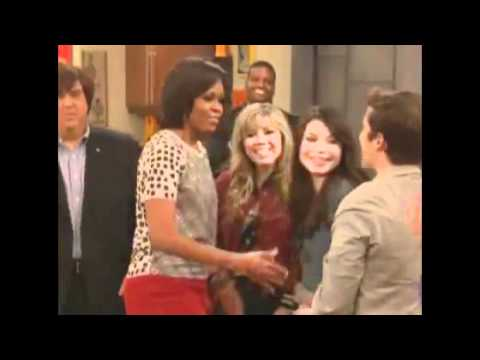 iCarly: @DANWARP GREETS 1ST LADY, MICHELLE OBAMA!!!