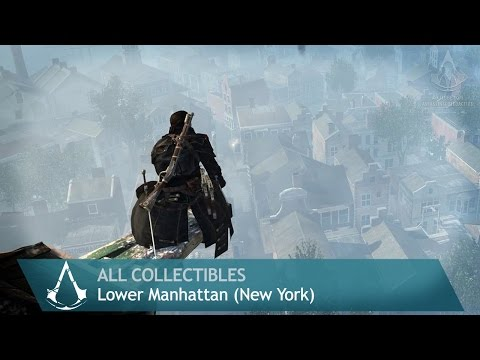 Assassin's Creed: Rogue - Side Memories - Lower Manhattan [New York] (All collectibles)