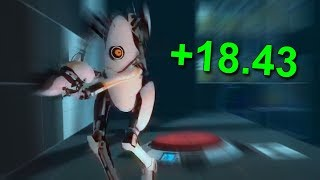 I aggressively raced my friends in Portal 2