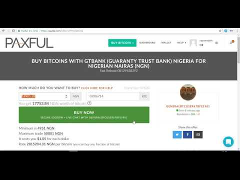 How To Fund Your Bitcoin Wallet With GTB Card and Skrill From PAXFUL