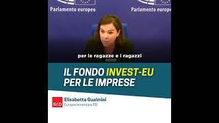 Intervento durante la Plenaria del Parlamento europea dell'europarlamentare del Partito democratico Elisabetta Gualmini, sul programma InvestEU.