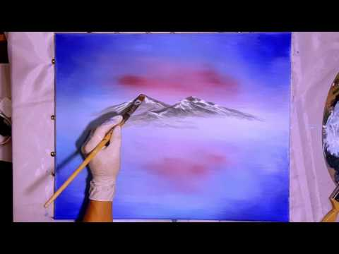 Near the Mountains – Part 2 – The Mountains! Acrylic Painting Tutorial Step by Step