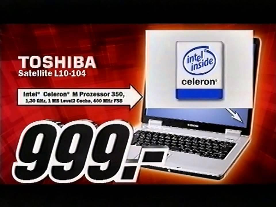 media markt werbung toshiba notebook 2004 youtube