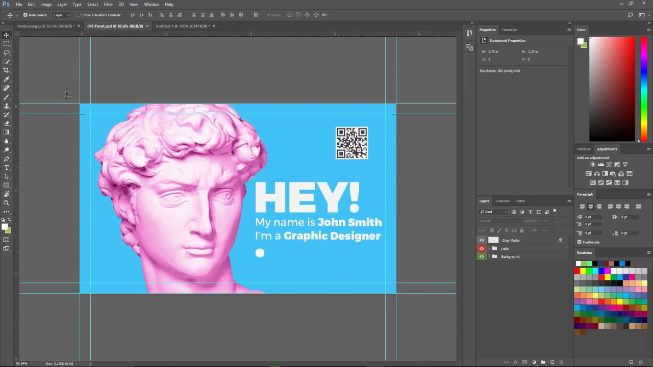 How to add bleed to business card in adobe photoshop cc 2017 youtube how to add bleed to business card in adobe photoshop cc 2017 colourmoves